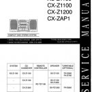 Aiwa CXZ1200 Service Manual Mauritron #2454