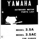 Yamaha 3.5A Europe Service Manual Mauritron #2512