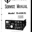 Kenwood TS820 Service Manual Mauritron #2545