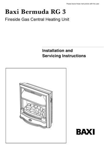 Baxi bermuda rg3 manual mauritron 2569 for Baxi eco 3 manuale