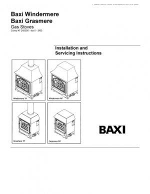 Baxi WINDERMERE TF GCNO.32-075-29  Mauritron #2652