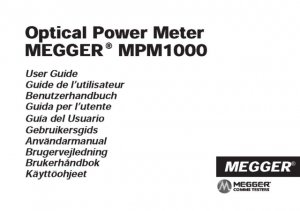 Megger MPM1000 Instructions. Mauritron #2994