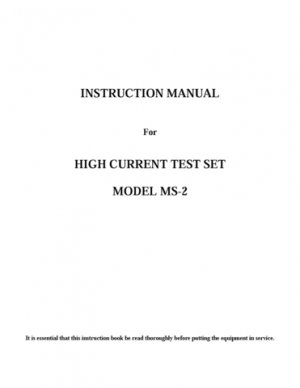 Multi Amp MS2 Instructions. Mauritron #3079