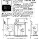 Philips 131U Service Schematics. Mauritron #3204