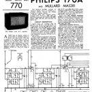 Philips 170A Service Schematics. Mauritron #3207