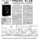 Philips 472A Service Schematics. Mauritron #3220