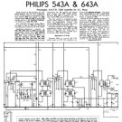 Philips 543A Service Schematics. Mauritron #3223