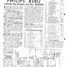 Philips 838U Service Schematics. Mauritron #3241