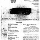 Sony TCFX2 Service Manual. Mauritron #3357