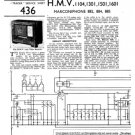 HMV 1104 Vintage Service Schematics Mauritron #3390