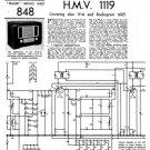 HMV 1119 Vintage Service Schematics Mauritron #3395