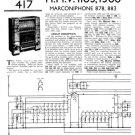 HMV 1300 Vintage Service Schematics Mauritron #3407