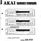 Akai GXF51 Service Manual. Mauritron #3514