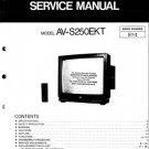 JVC AVS250EKT Service Manual. Mauritron #3596