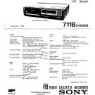 Sony SLC40UB Service Manual. Mauritron #3605