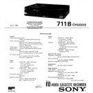 Sony SLHF100UB Service Manual. Mauritron #3608