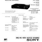 Sony SLV415VP Service Manual. Mauritron #3615