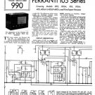 Ferranti 105A Service Schematics. Mauritron #3714
