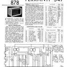 Ferranti 547 Service Schematics. Mauritron #3769