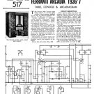 Ferranti ARCADIA 1937  Schematics. Mauritron #3778
