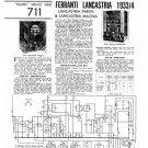 Ferranti LANCASTRIA 1933  Schematics. Mauritron #3781
