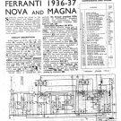 Ferranti NOVA 1936 Service Schematics. Mauritron #3789