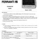 Ferranti A5700 Service Schematics. Mauritron #3806