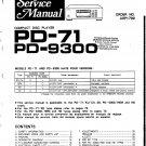 Pioneer PD71 Service Manual. Mauritron #3979