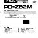 Pioneer PDZ82M Service Manual. Mauritron #3983