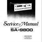 Pioneer SA9800 Service Manual. Mauritron #3990