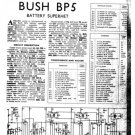 Bush BP5 Vintage Service Circuit Schematics