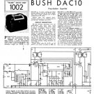 Bush DAC10 Vintage Service Circuit Schematics