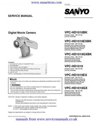 Sanyo VPC-HD1010BK Service Manual Schematics Circuits