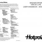 Hotpoint 1000 De Luxe 9926 Washer Operating Guide
