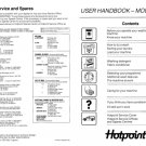 Hotpoint 9516 Washer Operating Guide