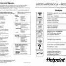 Hotpoint 9537 Washer Operating Guide