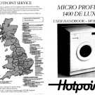 Hotpoint 9561 Washer Operating Guide
