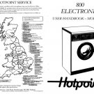 Hotpoint Electronic 800 Plus 9512 Washer Operating Guide