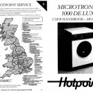 Hotpoint Microtronic 1000 Deluxe 9551 Washer Operating Guide