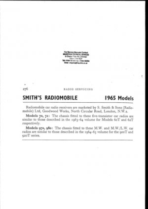 Radiomobile 970 Service Manual