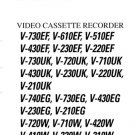 Toshiba V220W V-220W Video Recorder Service Manual