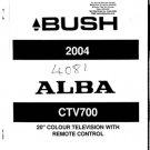 Alba CTV700 CTV-700 Service Manual