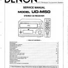 Denon UDM50 (UD-M50) (UDM-50) Receiver Service Manual