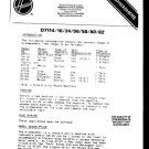 Hoover D7116 (D-7116) Service Manual