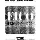 Eico 680 Transistor Tester Instructions Schematics etc