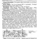 Elizabethan Corsair PTR6 (PTR-6) Radio Service Sheets Schematics Set