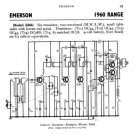 Emerson E666 (E-666) Radio Service Sheets Schematics Set