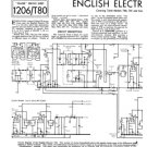 English Electric C42 TV Service Sheets Schematics Set