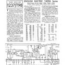 English Electric C42FM TV Service Sheets Schematics Set