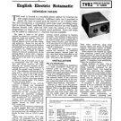 English Electric Rotamatic Tuner Service Sheets Schematics Set